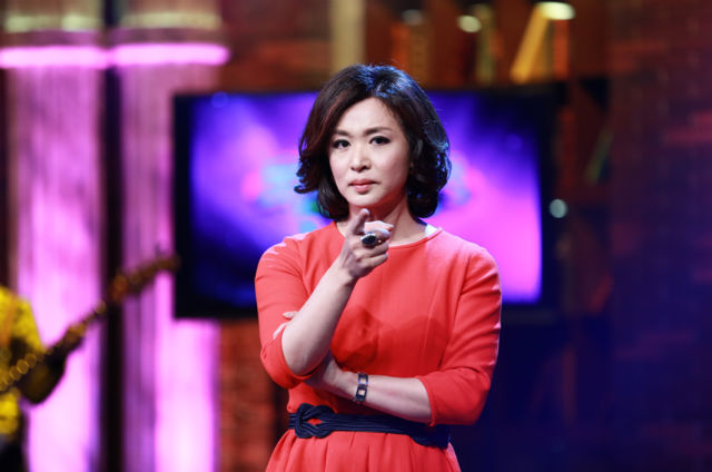 Jin Xing en un programa de televisión