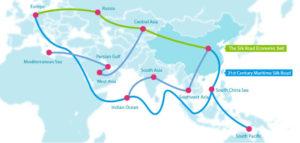 mapa de la iniciativa del cinturón y la ruta