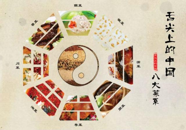 Las ocho corrientes de la gastronomía China