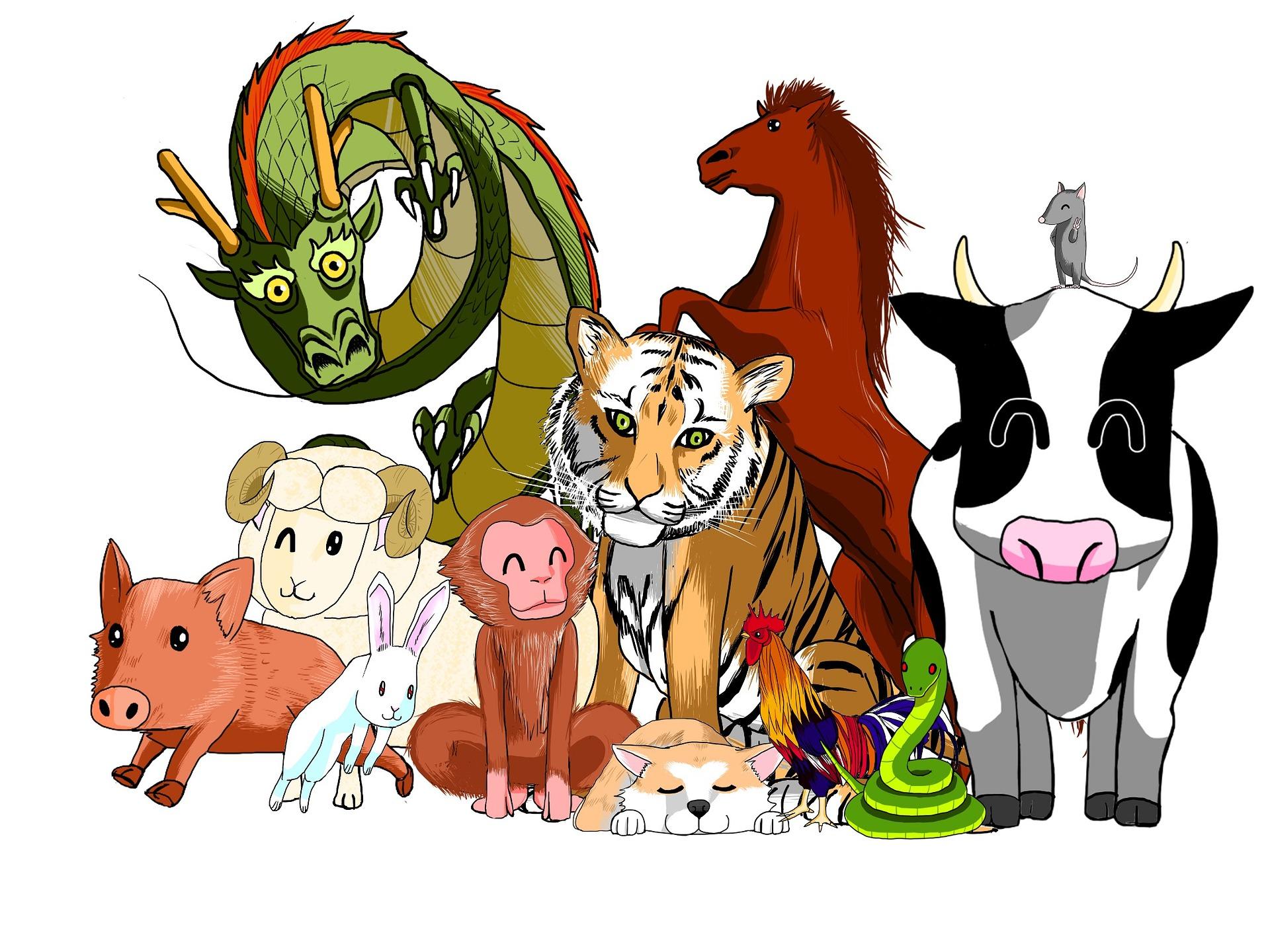 los doce animales del zodiaco chino