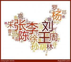 top 10 apellidos chinos más comunes