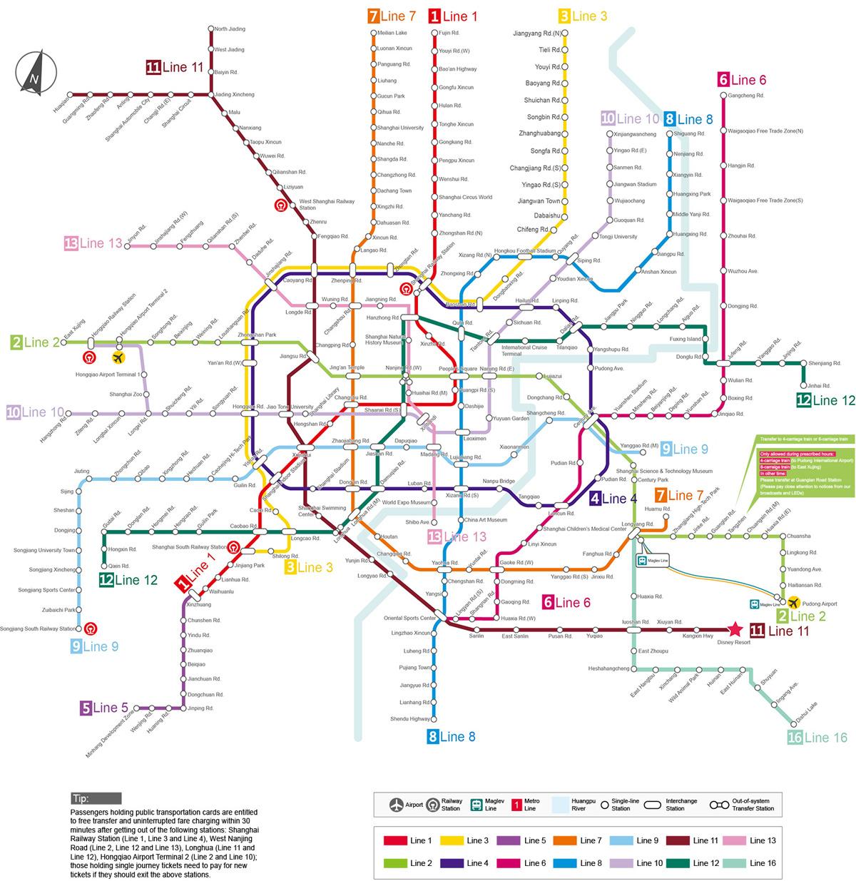 Mapa del metro de Shanghái