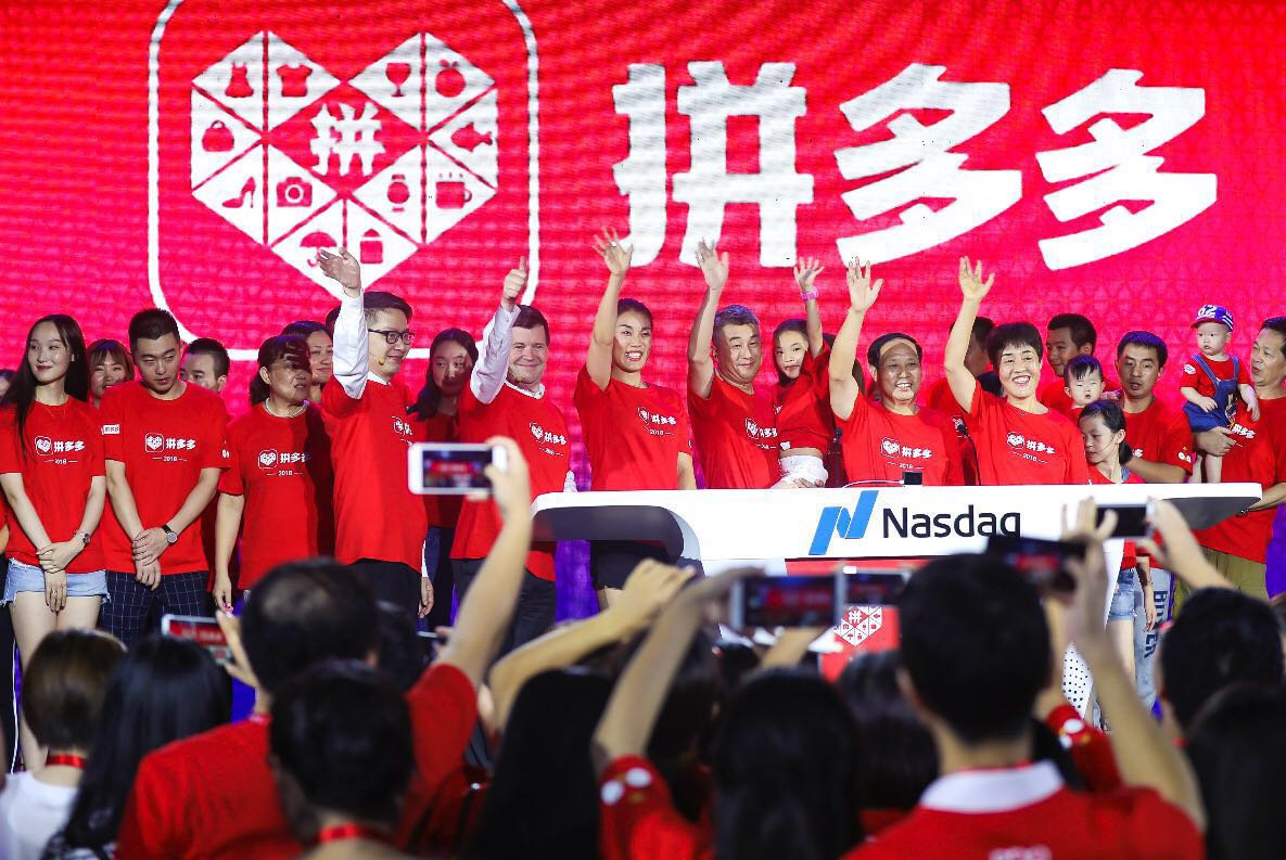 Pinduoduo en su IPO en Nasdaq