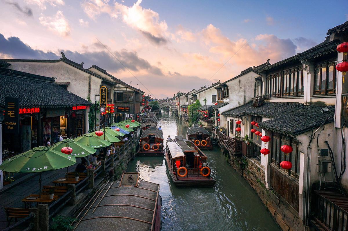 Shantangjie, en el centro histórico de Suzhou