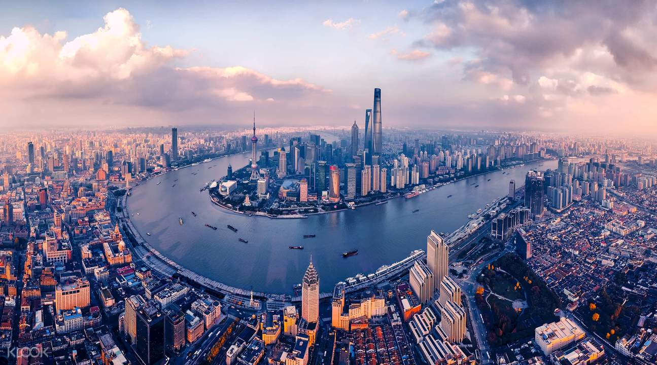 Vista aérea de Shanghái