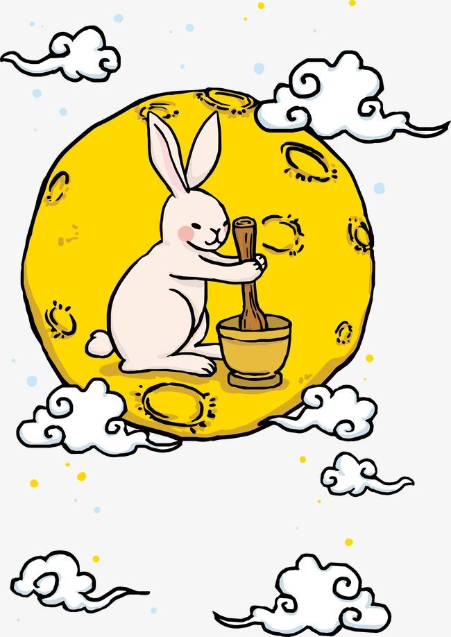 Conejo de la luna, asociado a la fiesta del medio otoño