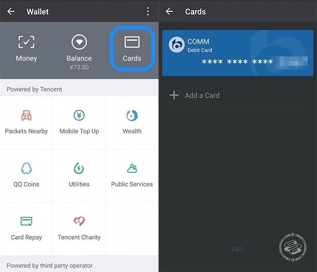 Paso 4 para conectar una cuenta de banco a wechat