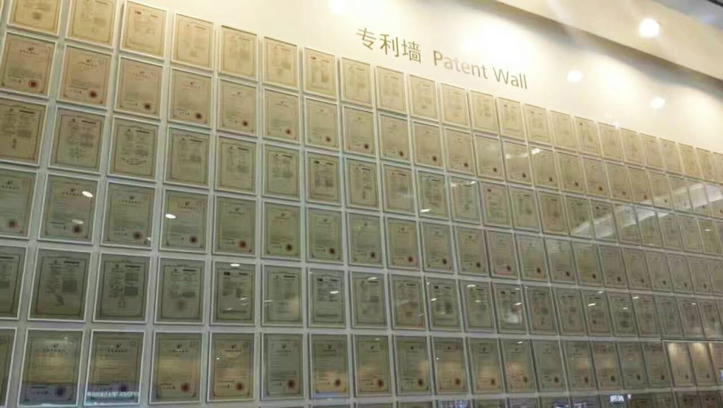 muro de patentes de Huawei